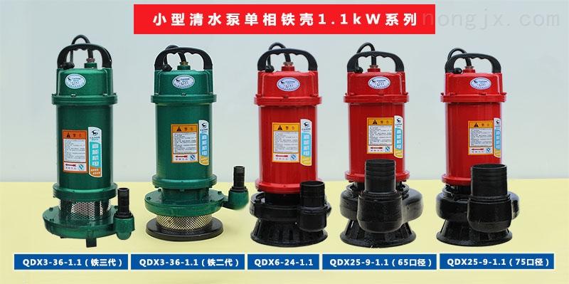 小型清水泵单相铁壳1.1kW系列