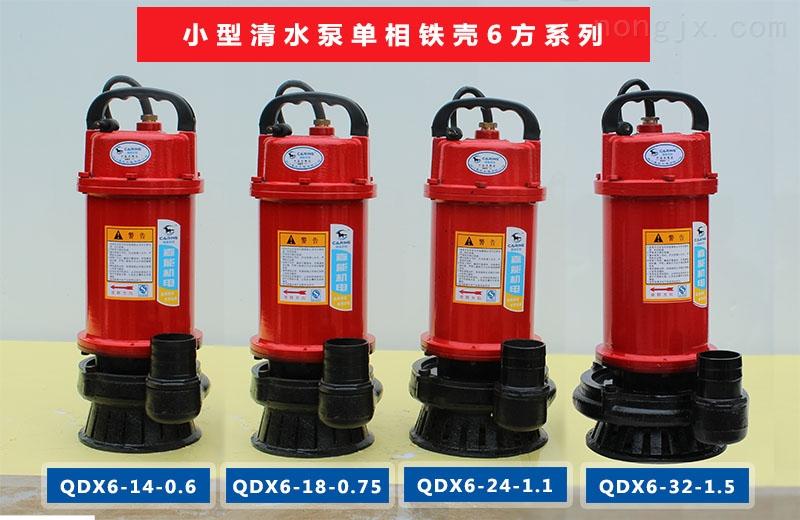 四川嘉能机电小型清水泵单相铁壳6方系列