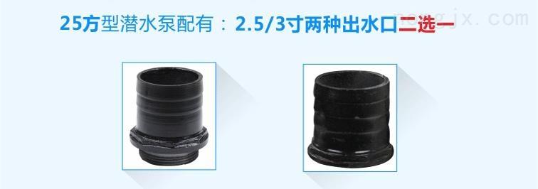 25方清水潜水泵配2.5/3寸2种出水口二选一