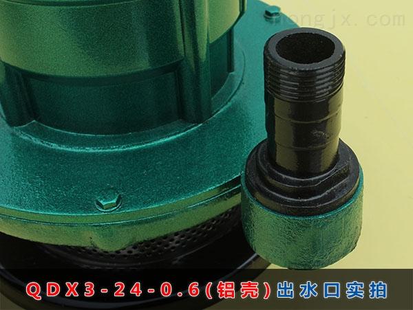 QDX3-24-0.6(铝壳)进水口实拍