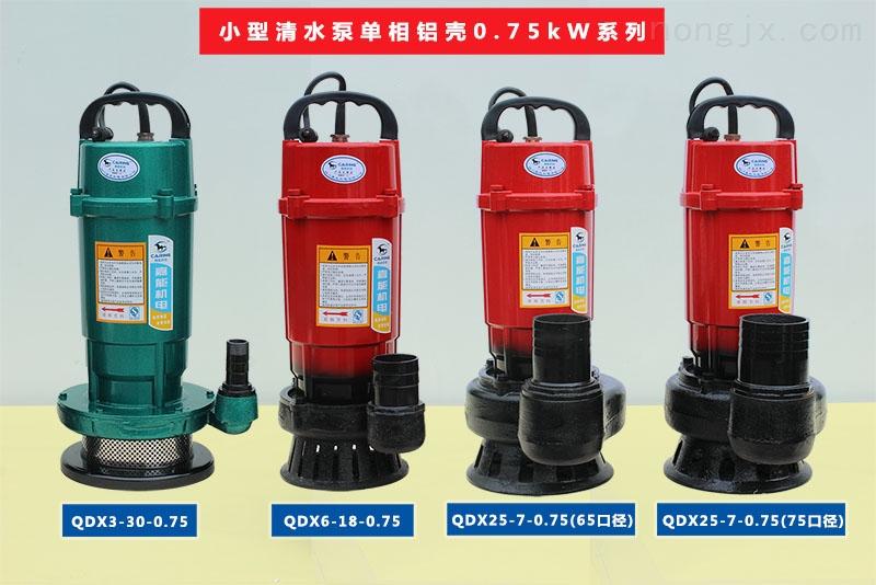 小型清水泵单相铝壳0.75kW系列